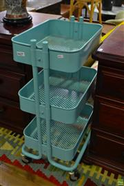 Sale 8566 - Lot 1627 - Three Tiered Stand on Castors