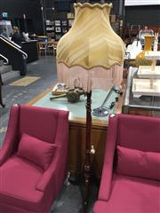 Sale 8740 - Lot 1513 - Timber Standard Lamp