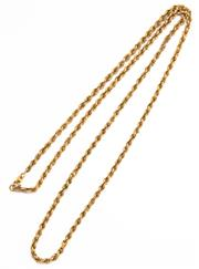 Sale 8937 - Lot 438 - AN 18CT ROPE TWIST CHAIN;  with bolt ring clasp, length 63cm, wt. 6.95g, repaired.