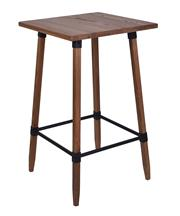 Sale 8957T - Lot 77 - Square  Bar table. Solid Elm in a Natural  finish. Metal fixtures and cross bars W60 x D60 X H102