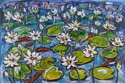 Sale 9161 - Lot 590 - NADA HERMAN (1965 - ) Lotus oil on canvas 102 x 152 cm signed lower right