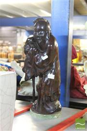 Sale 8214 - Lot 2341 - Chinese Timber Monk Figure
