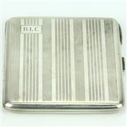 Sale 8279 - Lot 4 - Australian Sterling Silver Cigarette Case Retailed for Prouds