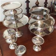 Sale 8310A - Lot 301 - A quantity of EP cake stands, various sizes, largest H 23cm