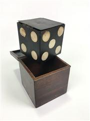 Sale 8539M - Lot 135 - The Conjurers Cube, a well-made timber box and tin die, possibly early C20th.
