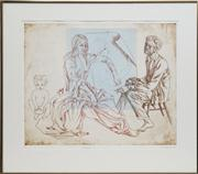 Sale 8716 - Lot 2063 - Louis Kahan (1905 - 2002) - Allegory, 1985 33 x 50cm