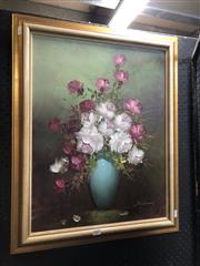 Sale 8816 - Lot 2007 - Artist Unknown - Floral Still Life Painting, frame size 70 x 56