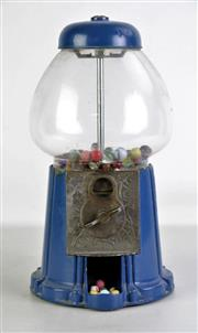 Sale 8905 - Lot 23 - Vintage Gumball Machine with Marbles (H37cm)