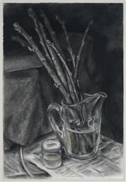 Sale 8907 - Lot 599 - Janet Dawson (1935 - ) - Fig Cutting In Beer Jar, 1990 56.5 x 37 cm