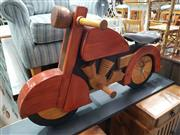 Sale 8934 - Lot 1071 - Timber Motorcycle with Leather Seat