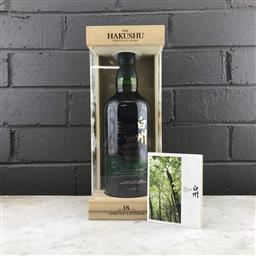 Sale 9089W - Lot 25 - The Hakushu Distillery 18YO Single Malt Japanese Whisky - limited edition, 43% ABV, 700ml in presentation box with slip cover