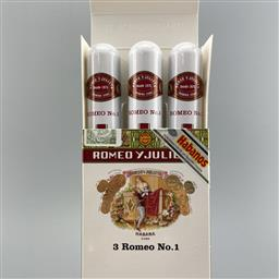 Sale 9182W - Lot 879 - Romeo y Julieta No.1 Cuban Cigars - pack of 3 tubos, removed from box stamped November 2017