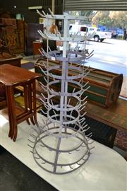 Sale 8115 - Lot 1264 - French Metal Bottle Drying Rack