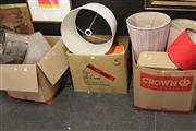 Sale 8139 - Lot 2276 - 3 Boxes of Sundries incl Lamp Shades