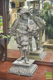 Sale 8272 - Lot 1010 - Spelter Staute of A Soldier