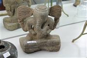 Sale 8296 - Lot 71 - Stone Ganesh Figure