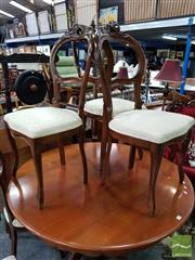 Sale 8480 - Lot 1021 - Set of 7 Balloon Back Dining Chairs