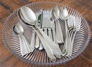 Sale 8562A - Lot 103 - A Villeroy & Boch dinner set for 6, together with salad servers, and a pressed glass serving dish