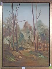 Sale 8600 - Lot 2043 - Norman Robins (1914 - 1988) Bush Landscape oil on board, 68 x 53cm, signed lower right