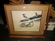 Sale 8668 - Lot 2057 - Chinese School - Bird, watercolour, 52 x 44cm, signed and inscribed lower left; frame a/f
