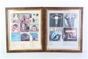 Sale 8783 - Lot 14 - Set of 6 Framed Poster Prints of Record Covers