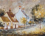 Sale 8892 - Lot 586 - Wilmotte Williams (1916 - 1992) - Yellow Trees, Woollahra 29 x 36.5 cm