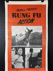 Sale 9003P - Lot 64 - Vintage Movie Poster - Kung Fu Action (Trimmed Base)