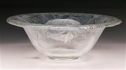 Sale 9098 - Lot 90 - A pressed glass Fruit Serving Bowl with hint of opalescence H10cm D30cm