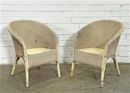 Sale 9151 - Lot 1332 - Pair of early painted Bentwood Cane Chairs (h72 x w57 x d64cm, each) -