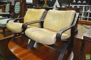Sale 8435 - Lot 1079 - Pair of Danish Leather Upholstered Armchairs