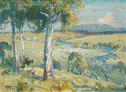 Sale 8513A - Lot 5005 - Albert Henry Fullwood (1863 - 1930) - Countryscape 15 x 20cm