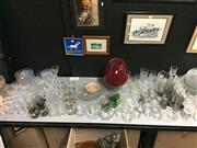 Sale 8659 - Lot 2510 - Collection of Glass Wares incl. Glasses, Vases, Bowls, Platters, etc