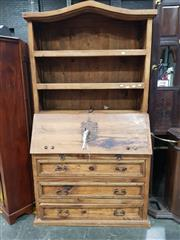 Sale 8740 - Lot 1703 - Timber and Iron Bureau Bookcase