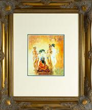 Sale 8774A - Lot 152 - A Norman Lindsay print in a gilt frame, total frame size 65cm x 45cm