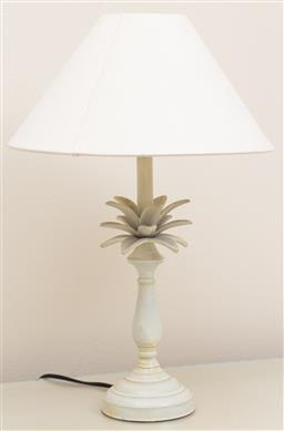Sale 9165H - Lot 46 - A tropical form painted table lamp. Total Height 46cm