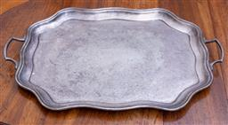 Sale 9190H - Lot 184 - A Twin handled Silver plated tray, Width 58cm