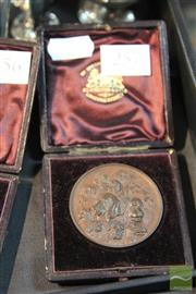 Sale 8214 - Lot 38 - N.S.W. Poultry Pigeon Canary & Dog Society Medal 1889 Trixey