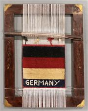 Sale 8445K - Lot 23 - Afghan Hanging Loom , 55x45cm, Interesting example loom featuring  world flag design. Ideally used as a unique wall hanging. Handmad...