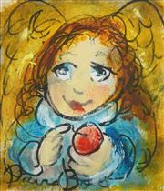 Sale 8504 - Lot 556 - David Boyd (1924 - 2011) - Angel and Red Apple 17.5 x 15cm