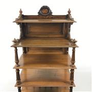 Sale 8545N - Lot 251 - Late Victorian Maple Whatnot on Castors