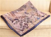 Sale 8568A - Lot 92 - A tapestry throw with a garden scene, 145 x 188cm