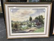 Sale 8720 - Lot 2081 - John Upton - Country Cottage watercolour, 48 x 60cm, signed lower right