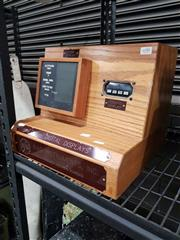 Sale 8809B - Lot 690 - Vintage Wood Cases Digital Display -Cabin Display -Cockpit Display Information Box