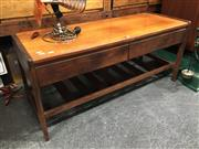 Sale 8859 - Lot 1017 - Teak 2 Drawer Coffee Table with Shelf Below