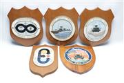 Sale 8873 - Lot 56 - Set Of Vintage Military Related Plaques (5)