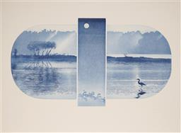 Sale 9099A - Lot 5079 - Peter Hickey (1943 - ) - Moonlight, 1991 36 x 67 cm, (sheetsize: 56 x 76 cm)