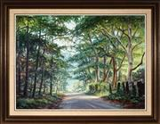 Sale 8958 - Lot 2035 - John Emmett (1927 - ) - The Sun Dappled Woodland, Road to and Over Wiltshire, England 54.5 x 75 cm (frame: 72 x 93 x 4 cm)