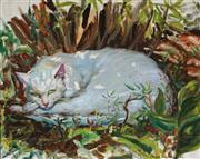 Sale 9001 - Lot 538 - Tempe Manning (1893 - 1960) - Drowsing in the Shade, 1952 38 x 48 cm ( 58 x 68 x 5 cm)