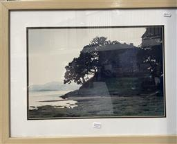 Sale 9139 - Lot 2071 - Phillip Quirk Landscape with Ruins, photographic print, frame: 47 x 62 cm, unsigned -