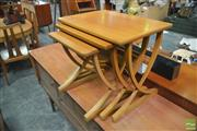 Sale 8338 - Lot 1068 - Nathan Teak Nest of Three Tables